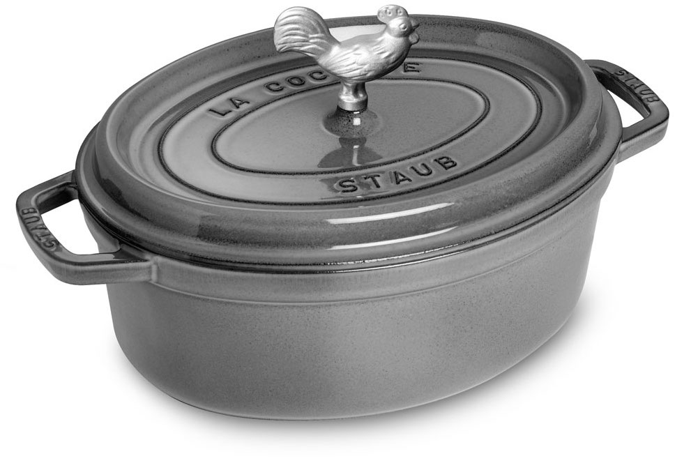 Staub Coq au Vin Graphite Grey Dutch Oven