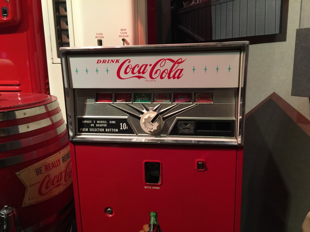Vintage Coca-Cola Vending Machine Closeup