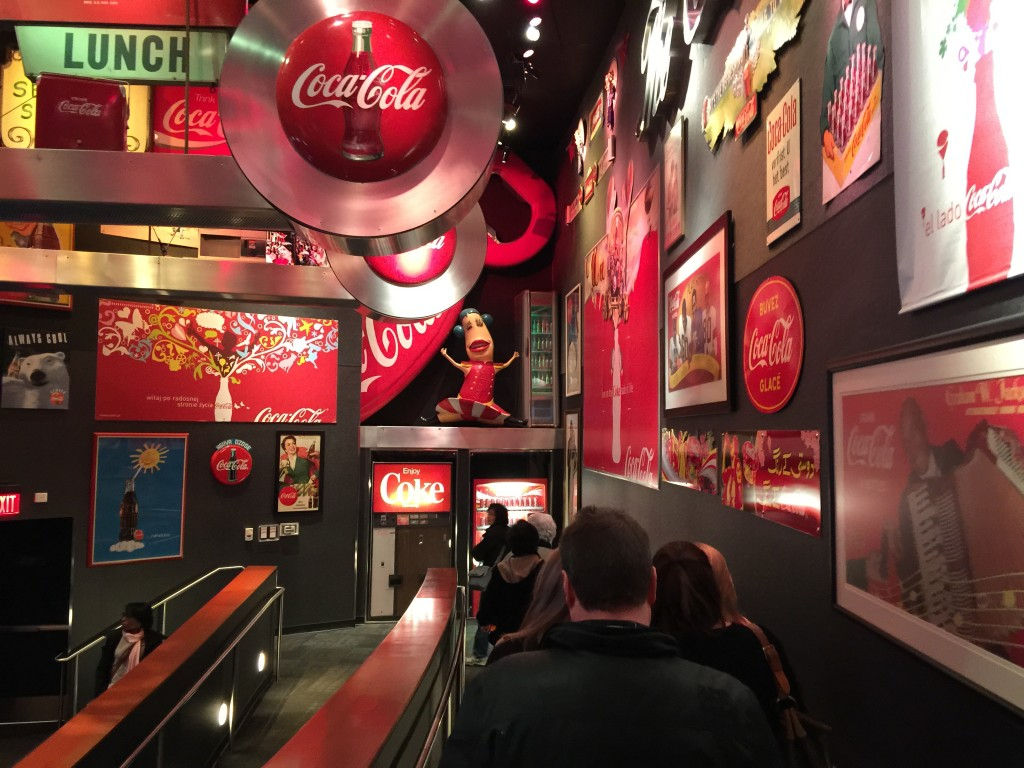 Walking Into First Part of the World of Coca-Cola