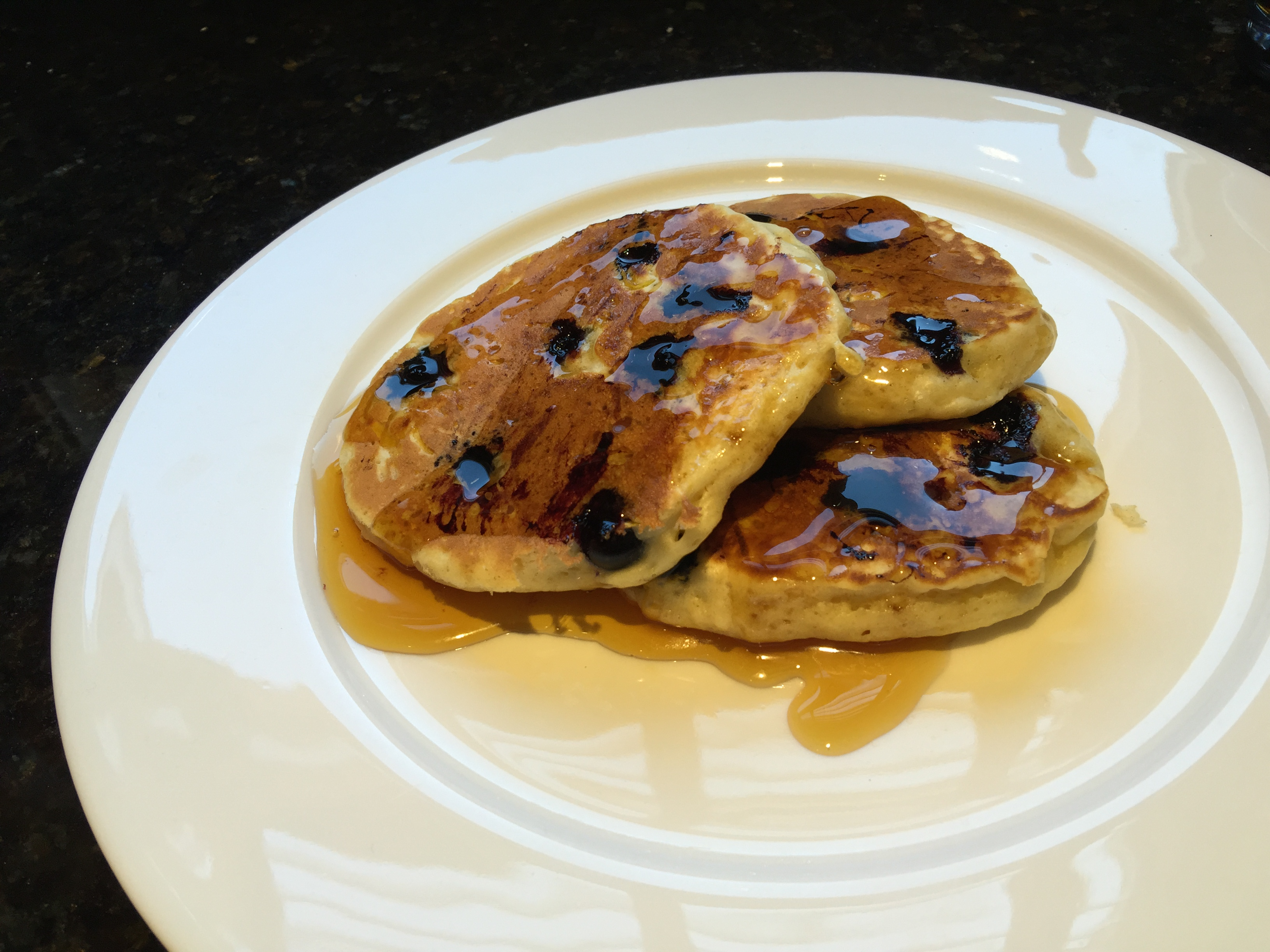 Blueberry Lemon Pancakes with Crown Maple Syrup