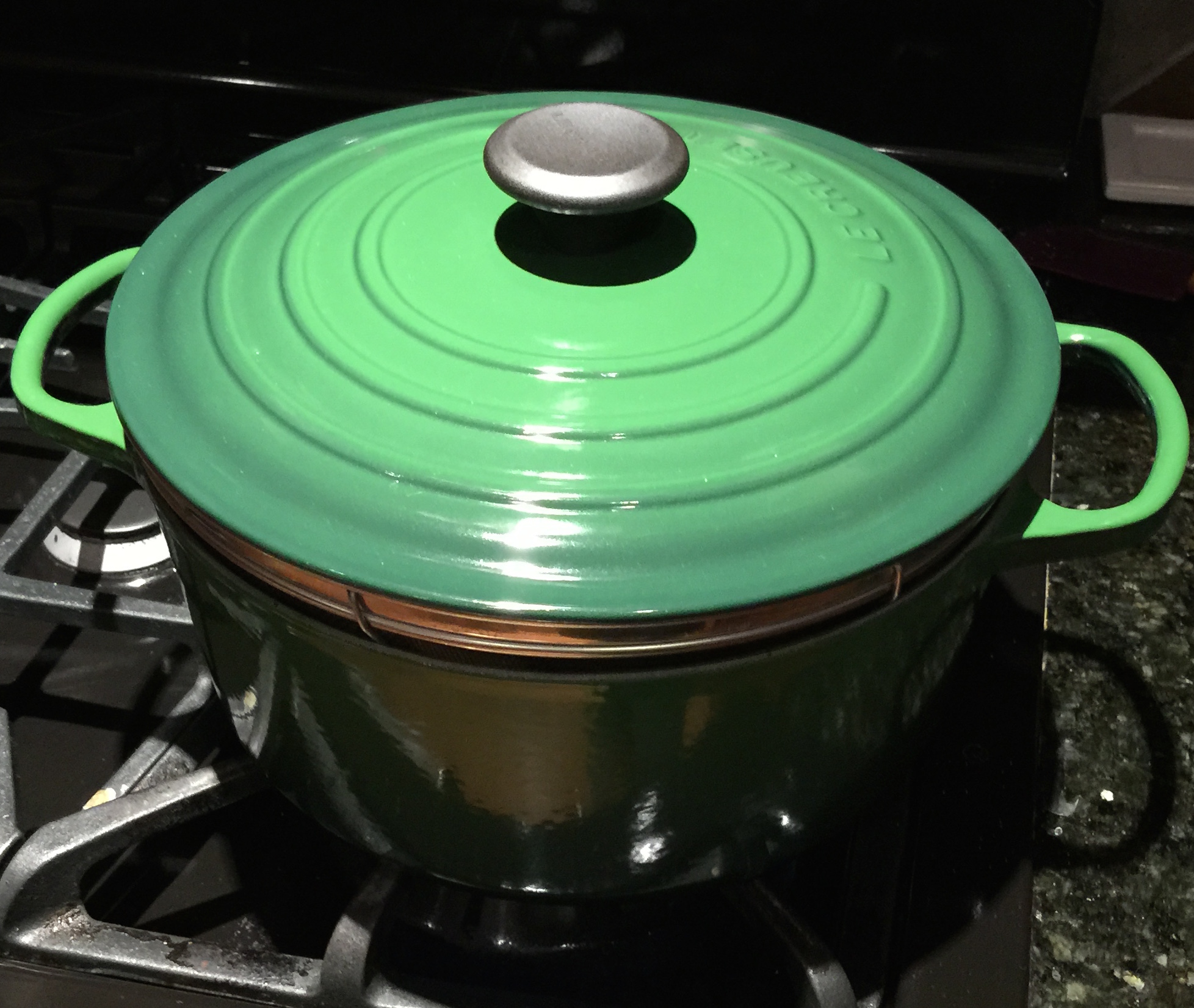 Put Lid on Dutch Oven to Steam Butternut Squash