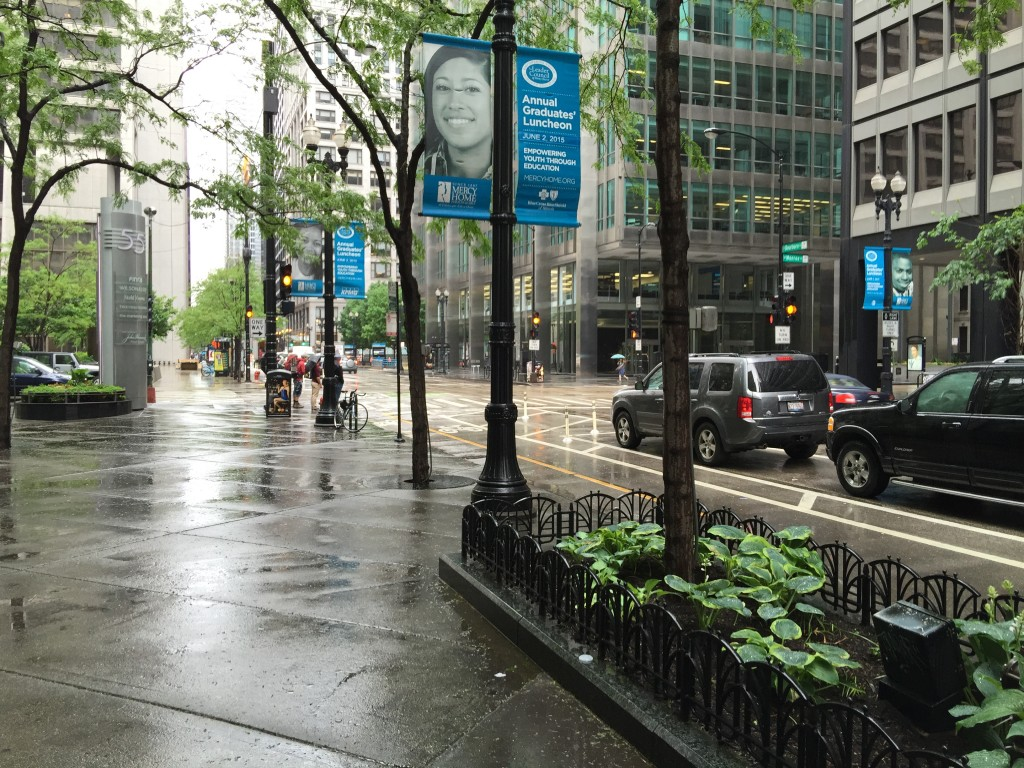 Cold Windy and Rainy in Chicago
