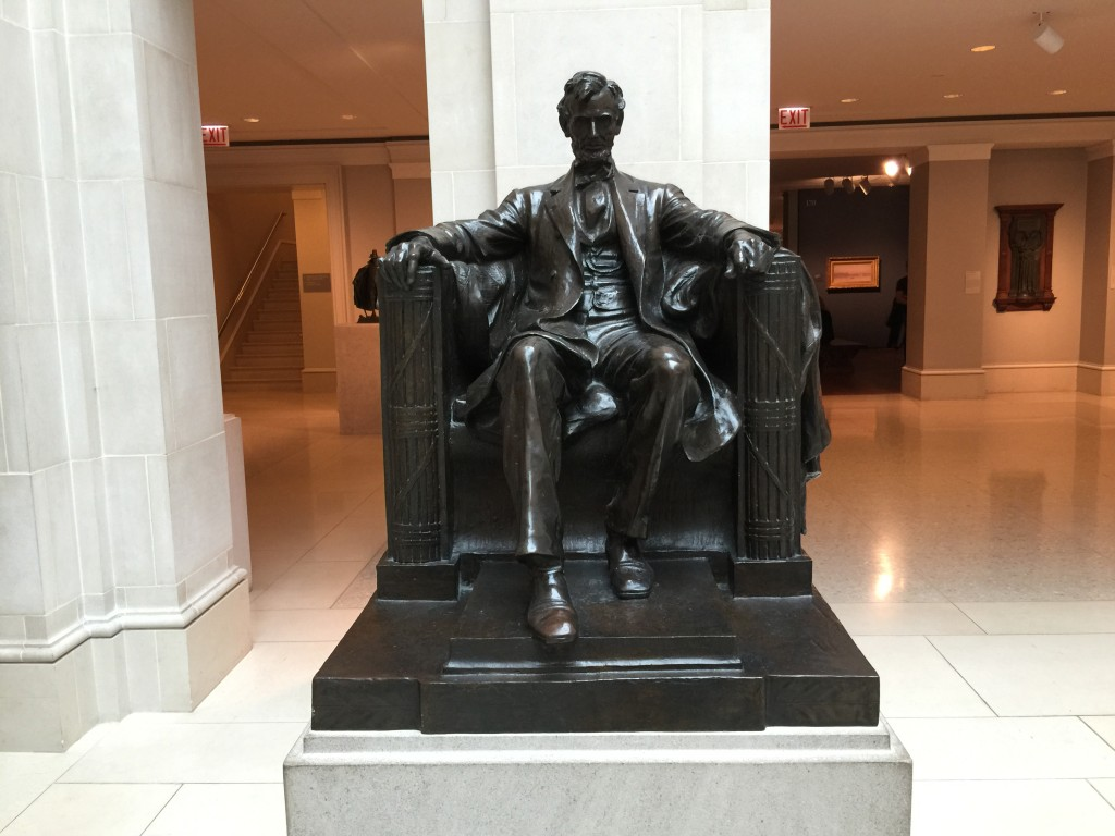 Abraham Lincoln Bronze Art Institute of Chicago