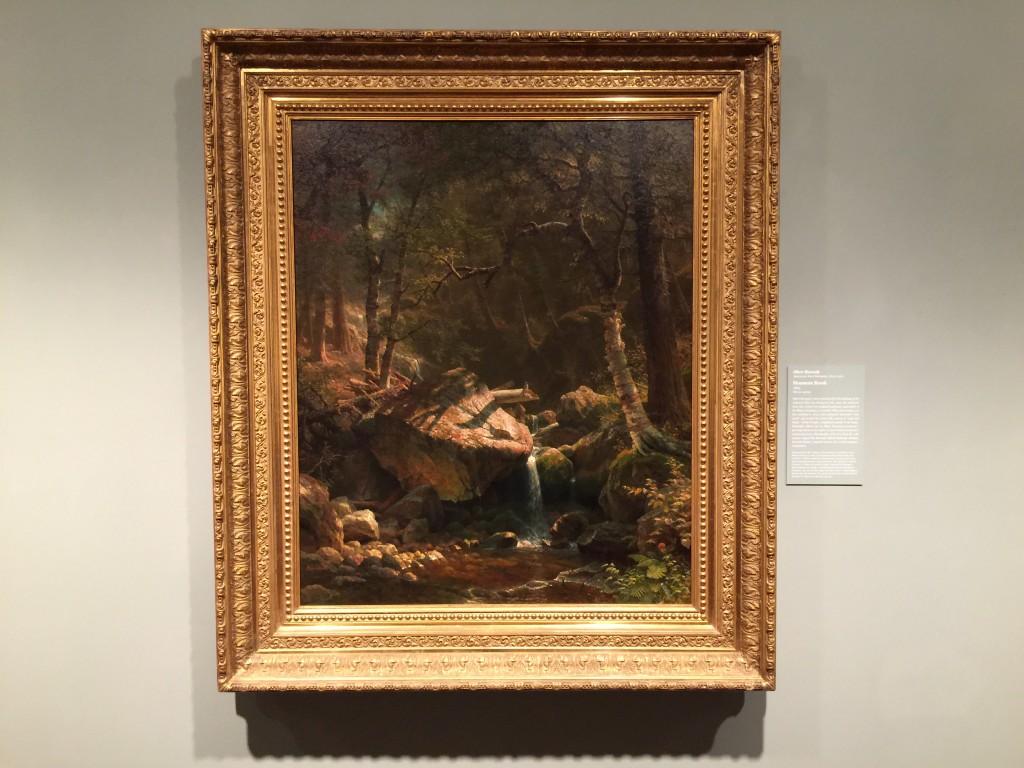 Bierstadt Mountain Brook Painting Art Institute of Chicago