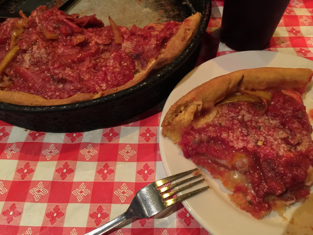 Josh and Aaron Try Their First Chicago Deep Dish Pizza