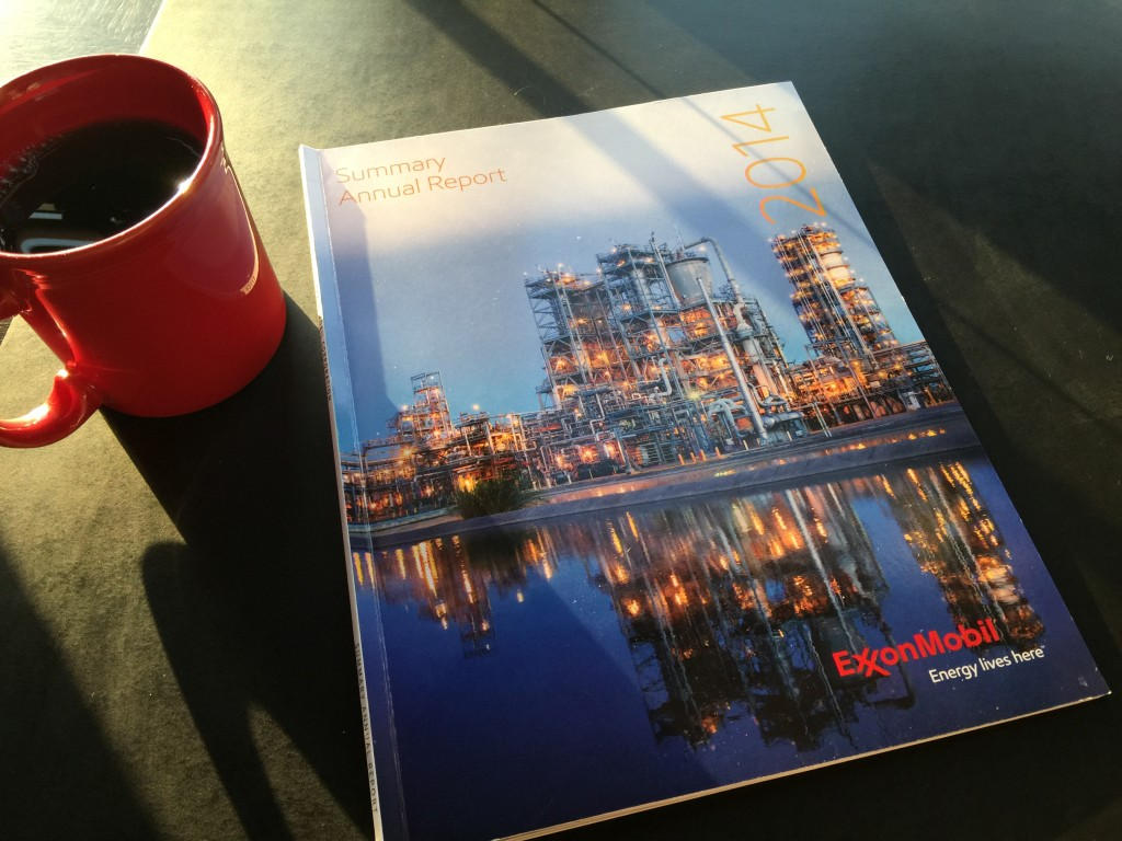 Reading Exxon Mobile Annual Report 2014