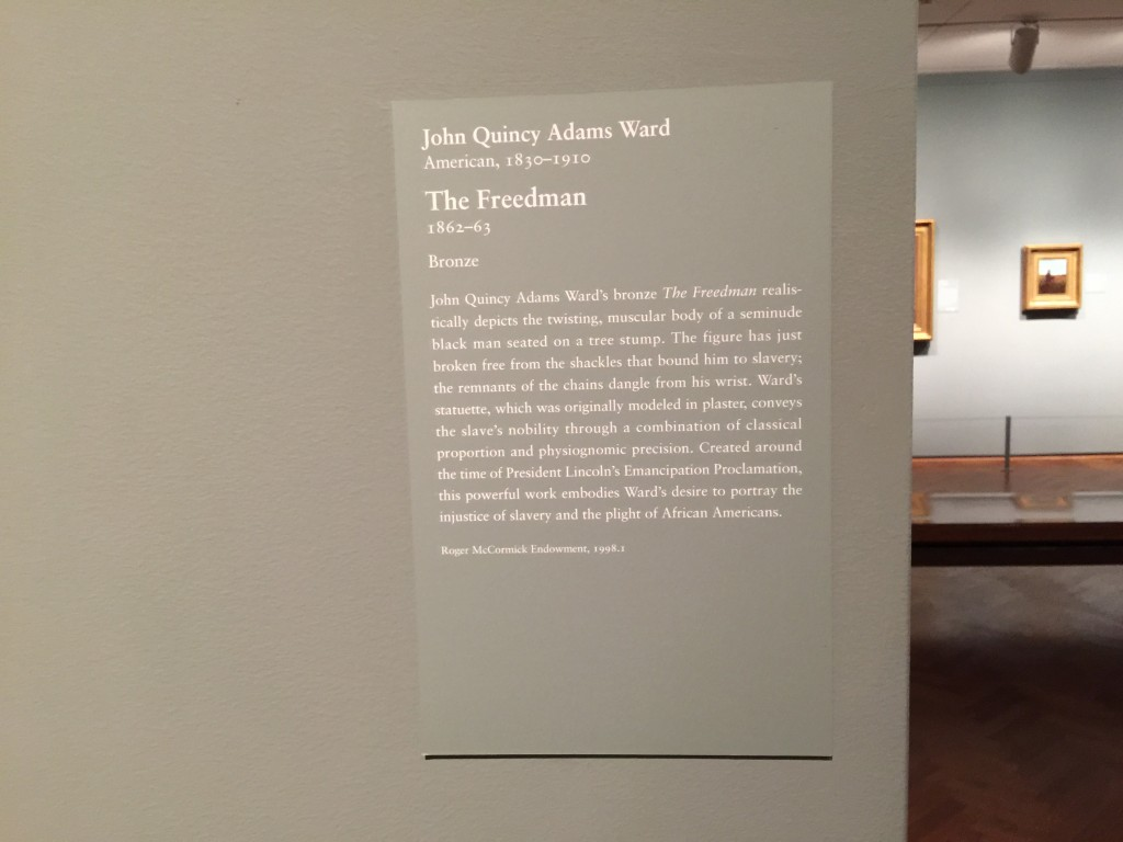 The Freedman Bronze Art Institute of Chicago Explanation