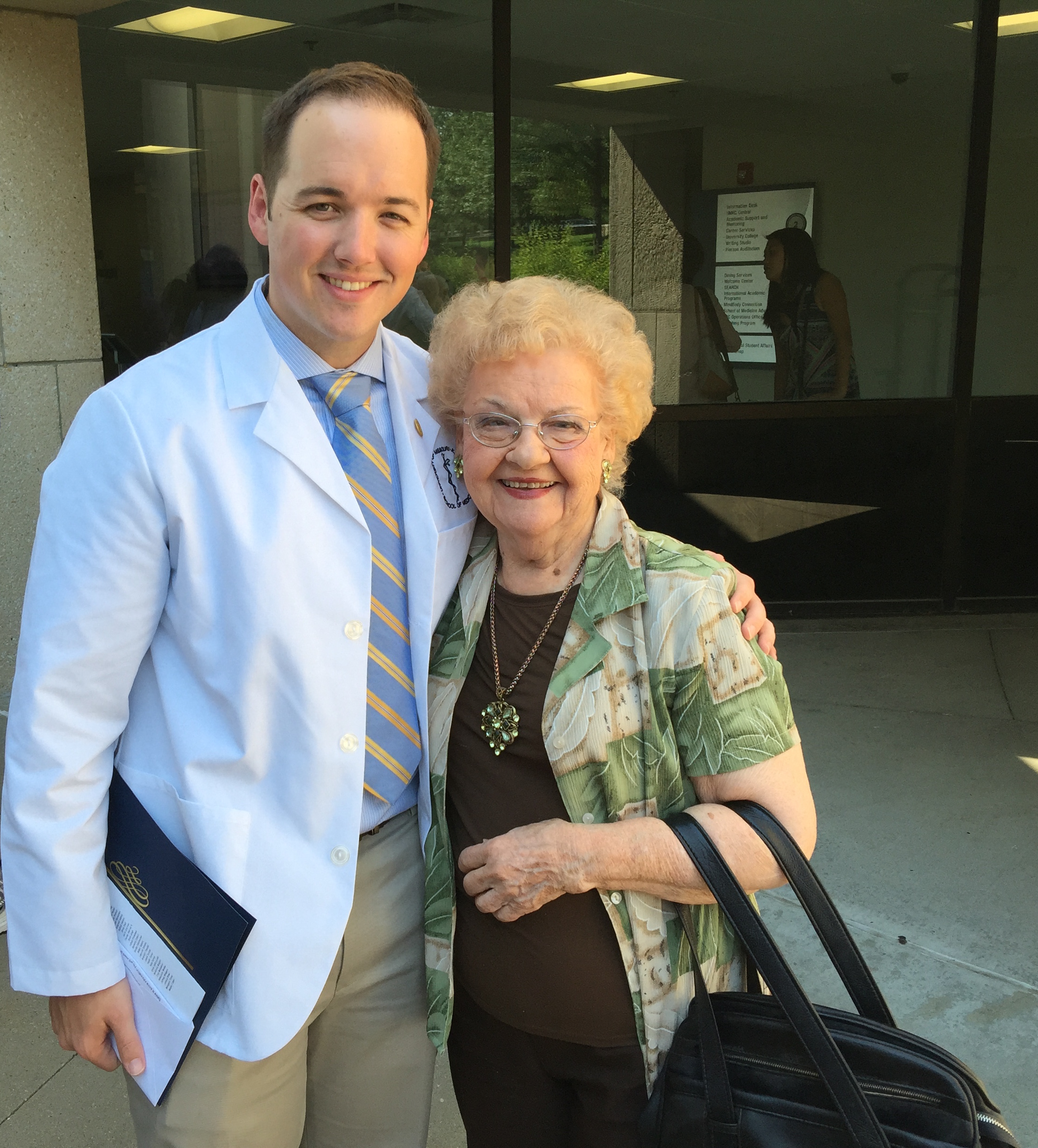 Caleb and Grandma Kathryn White Coat Ceremony Medical School