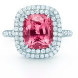 Tiffany Plat Soleste Oval Pink Tourmaline Ring