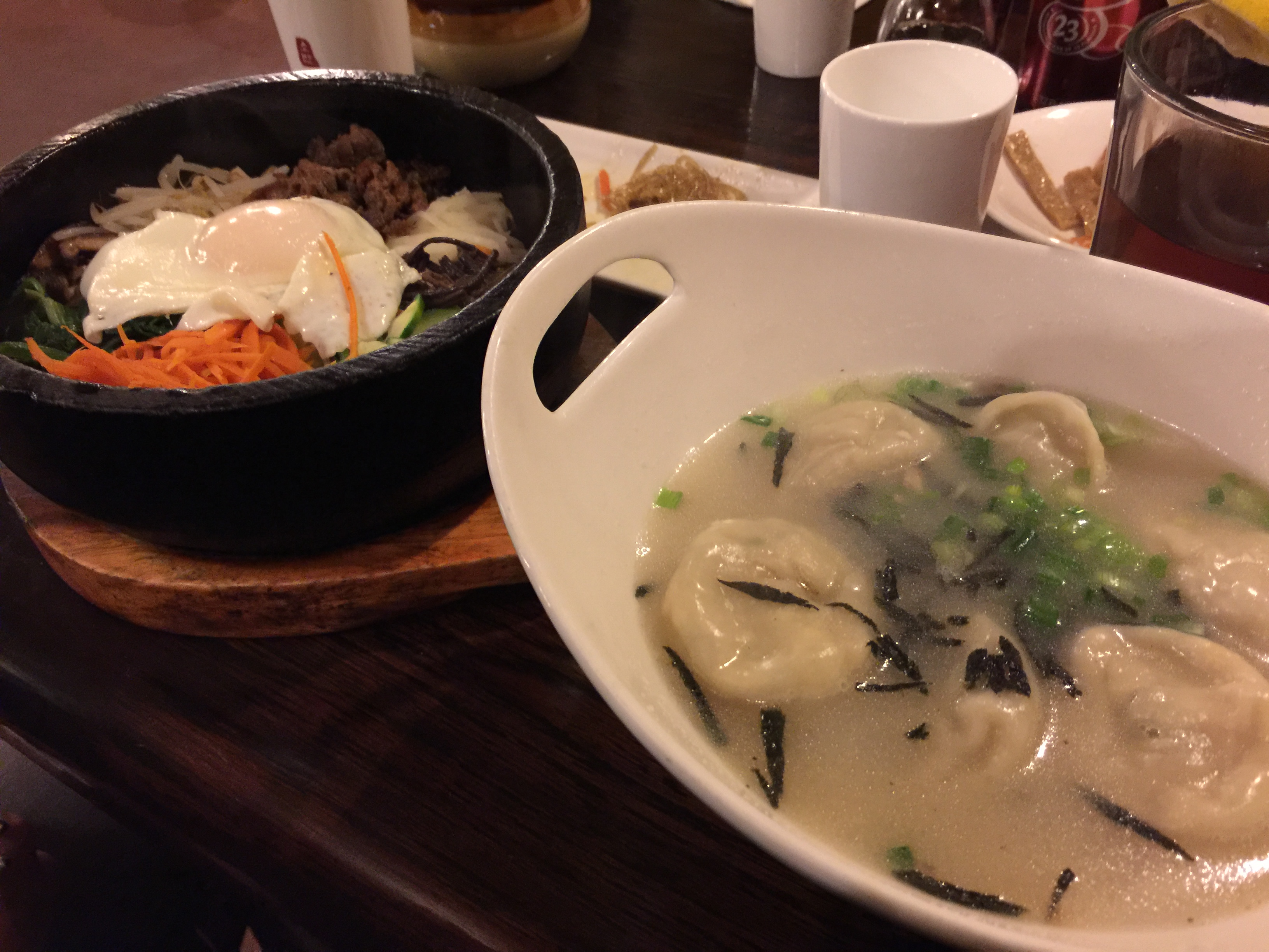 mandu guk and dol sot bibim bap Sobahn Korean restaurant in Kansas City