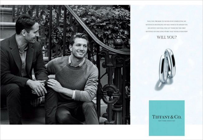 Tiffany & Company Gay Couple Wedding Ring Advertisement