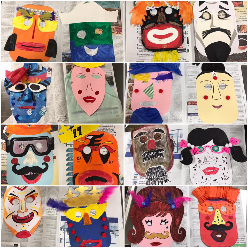 Weve been quietly learning korean we just completed our first korean culture class making korean masks biocorpaavc Image collections