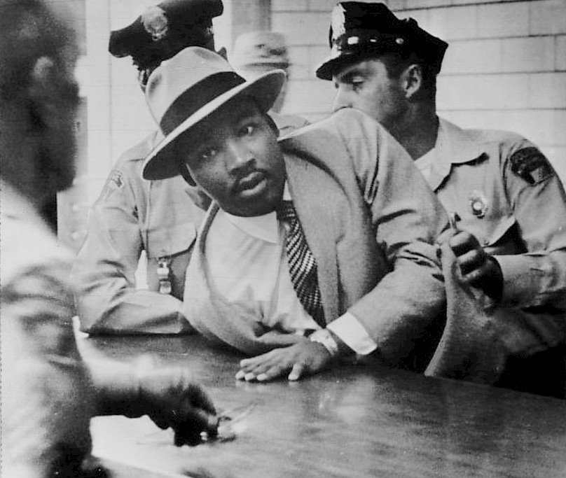 Martin Luther King Jr Being Arrested