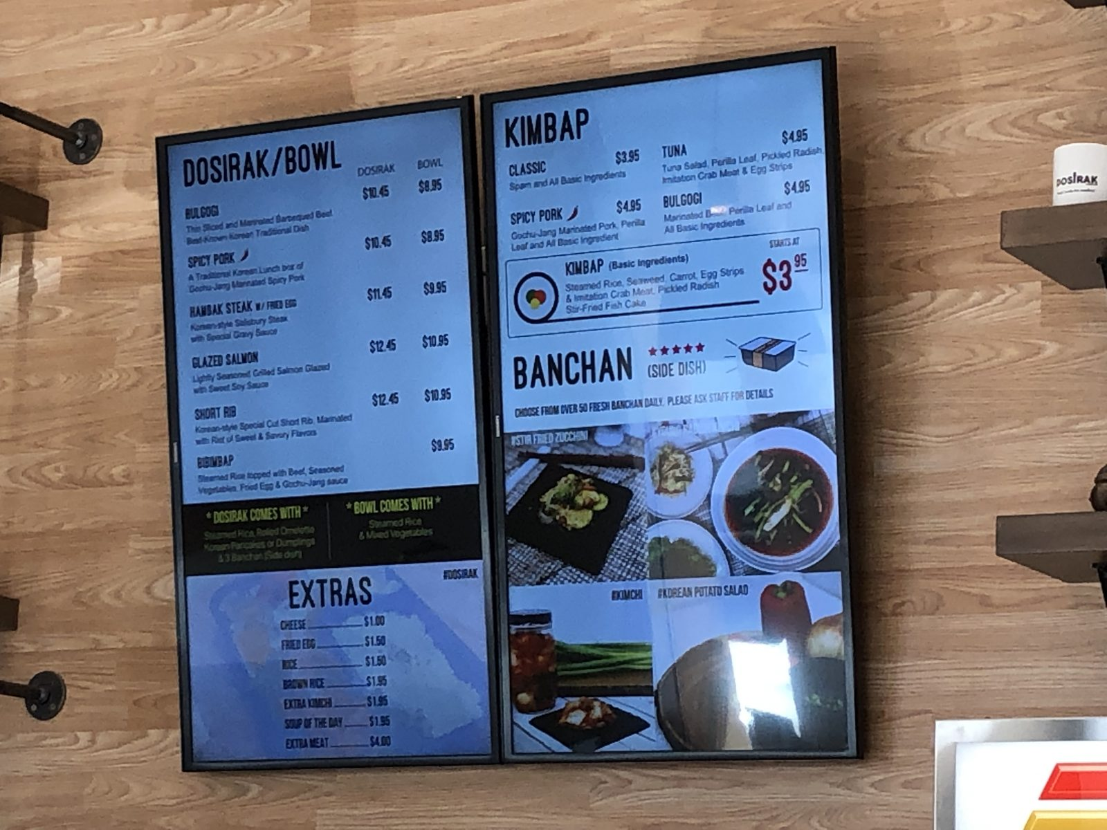 Dosirak Menu in Irvine California