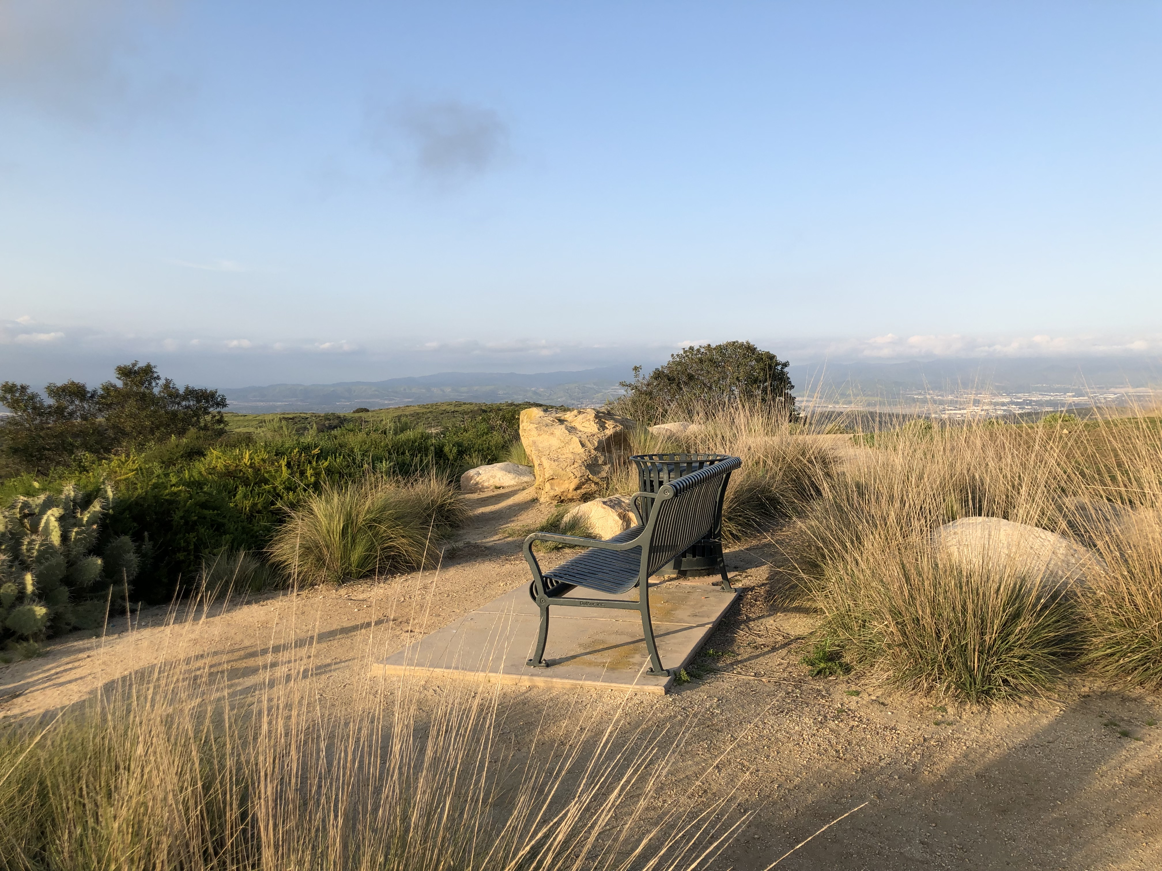 Park Bench Overlooking Southern California