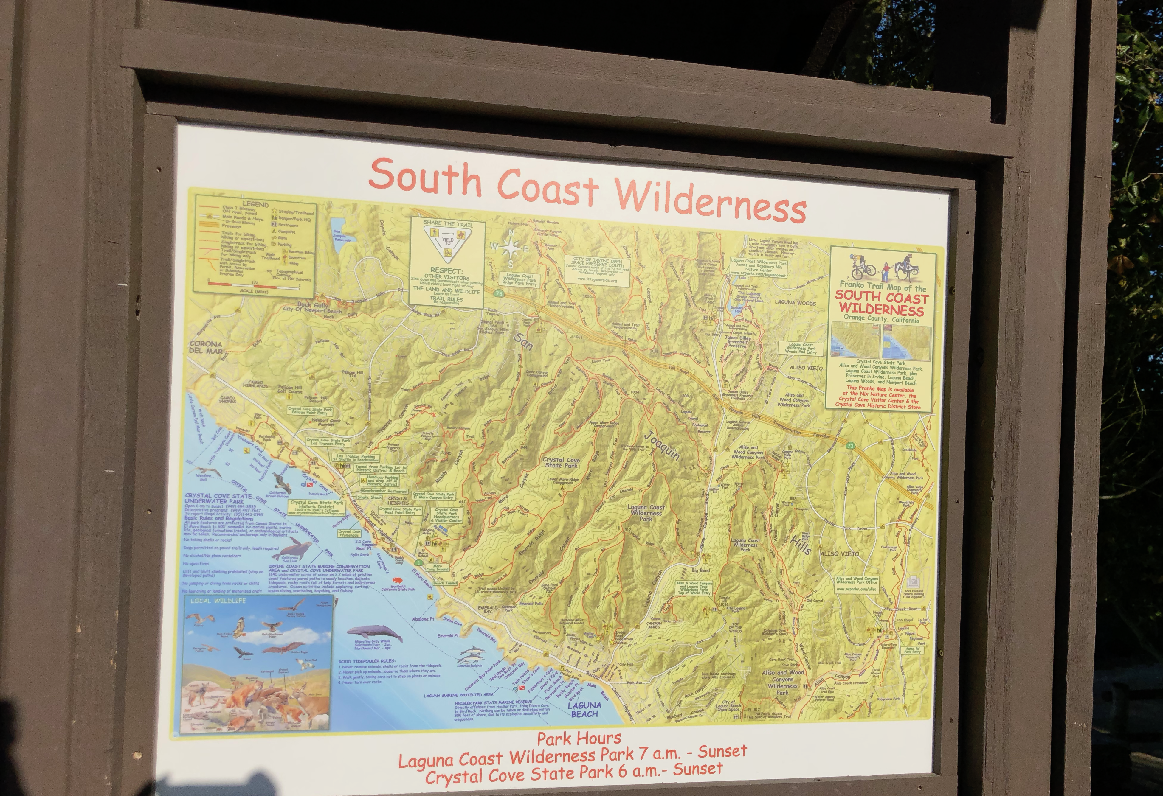 South Coast Wilderness Map and Hours
