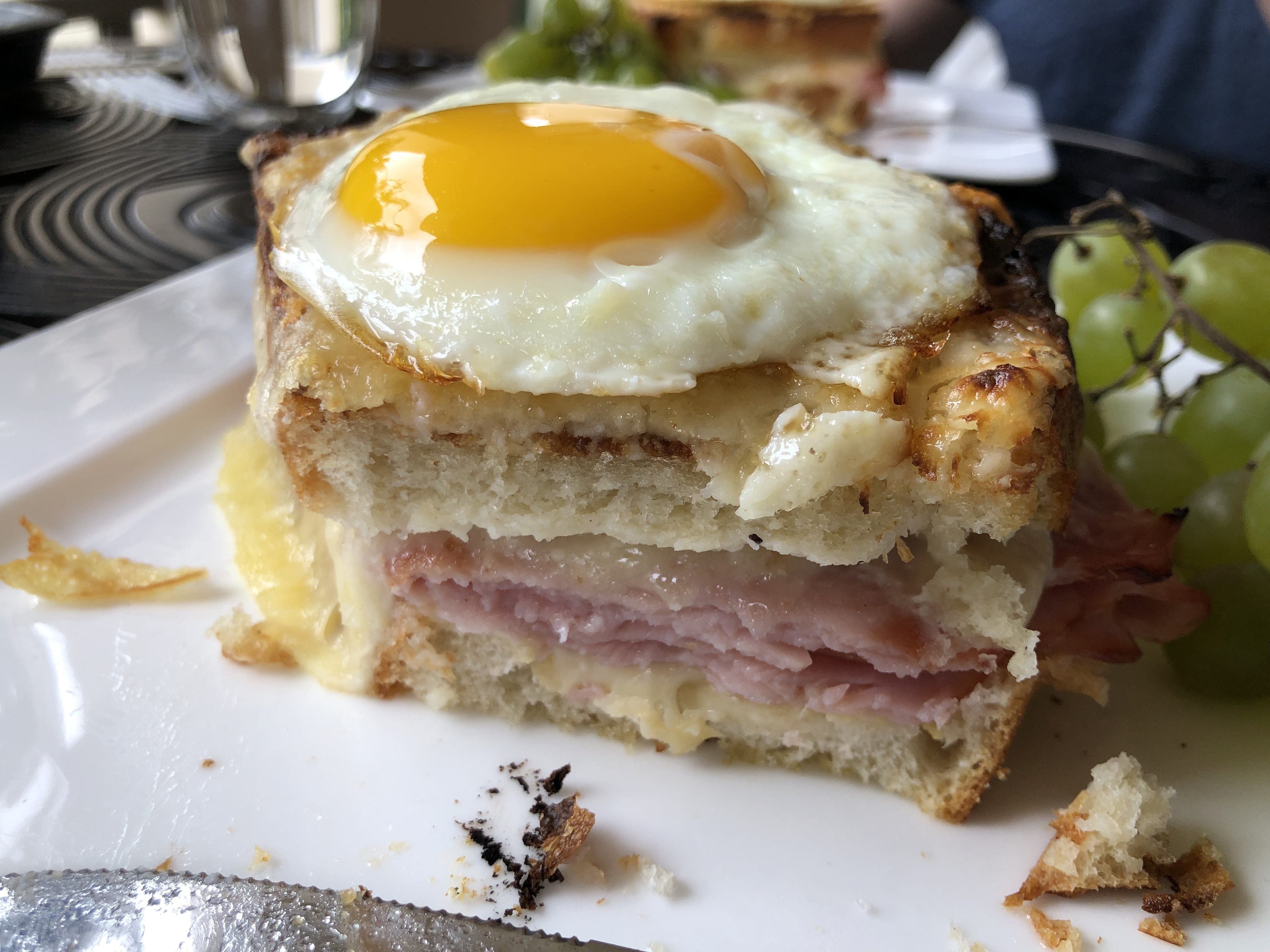 Aaron Made Croque Madame Sandwiches for Brunch Close-Up
