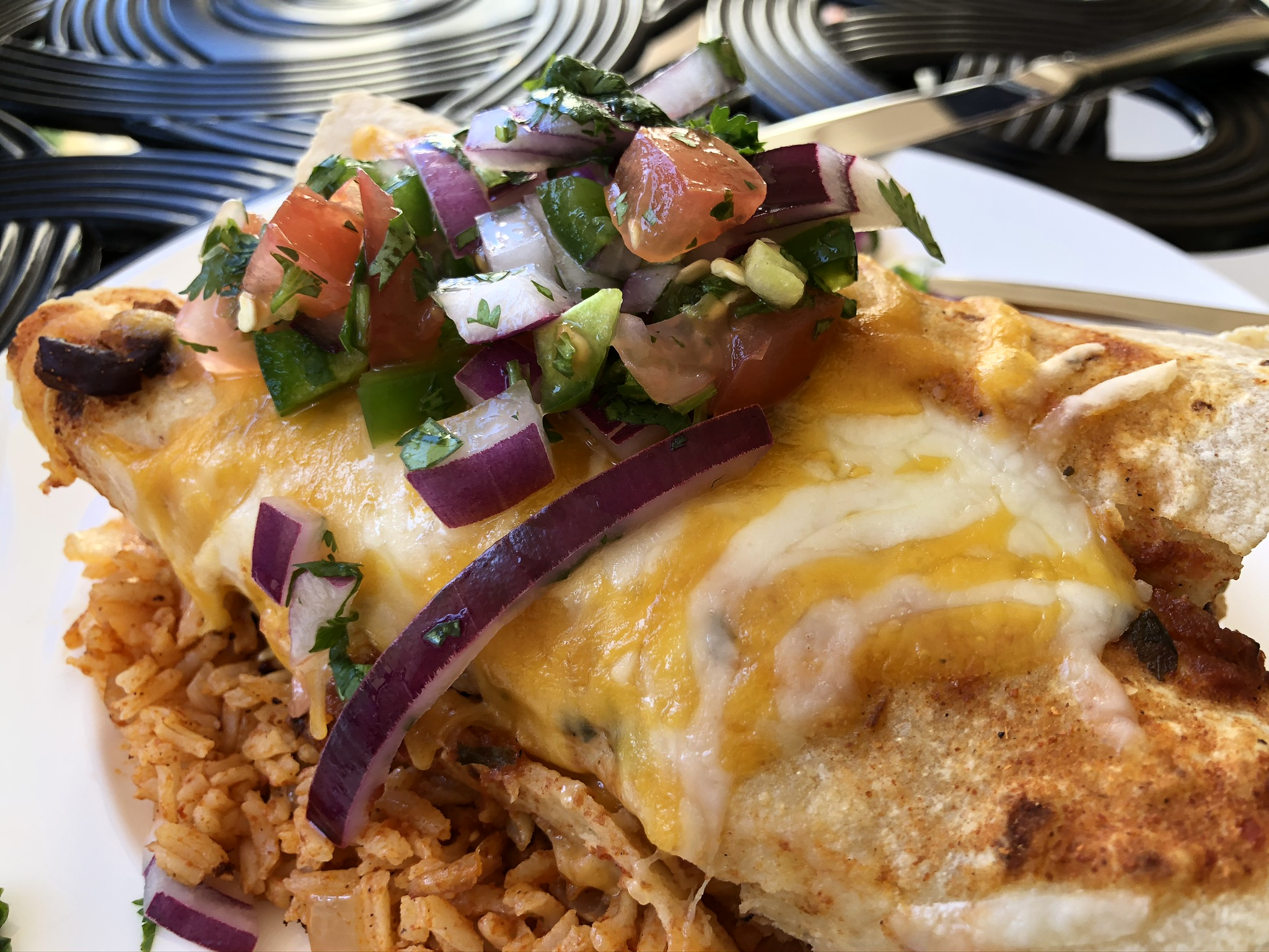 Aaron's Chicken Enchiladas - Closeup