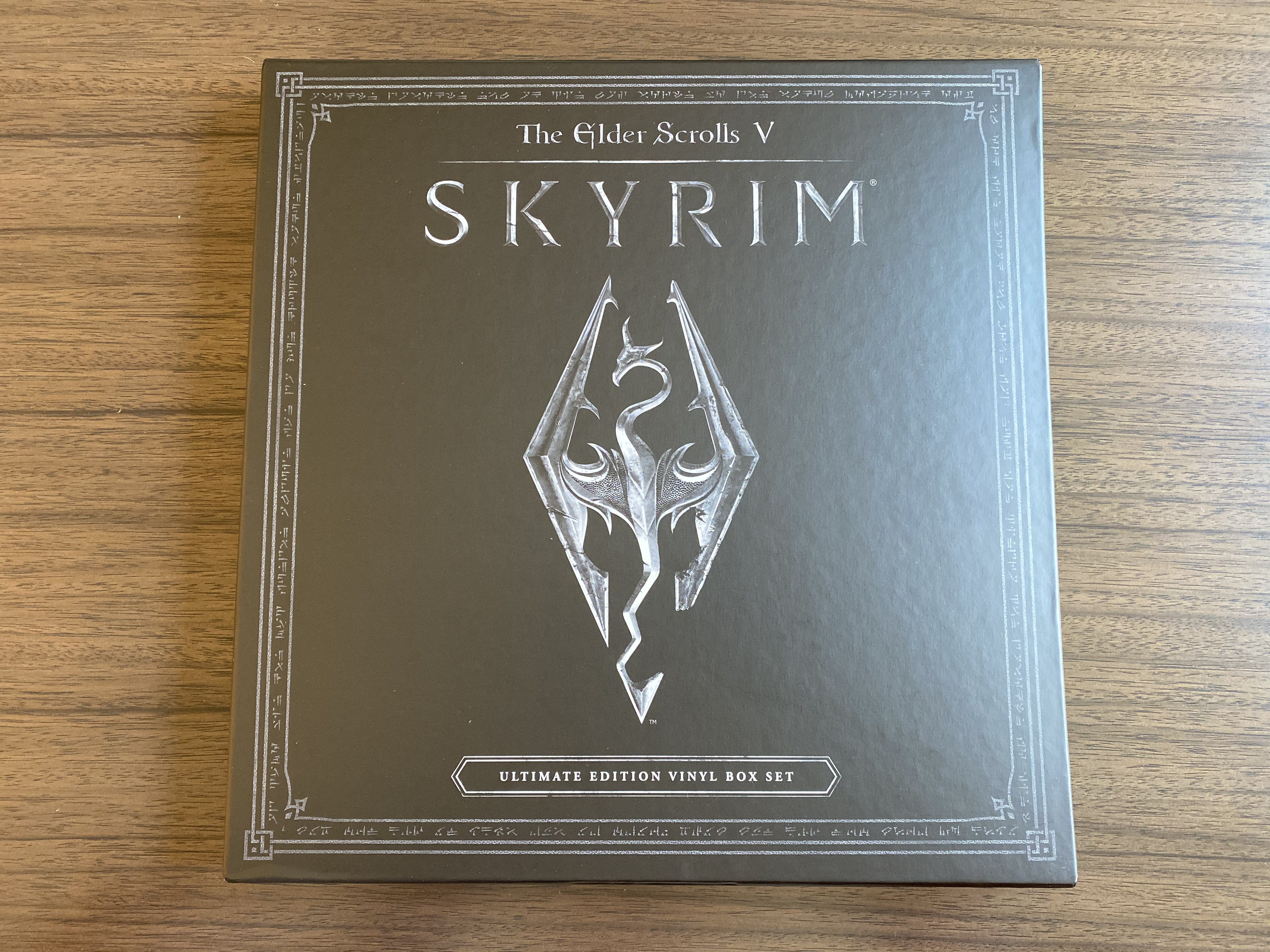 Kennon-Green Elder Scrolls V Skyrim Ultimate Edition Vinyl Box Set Sweet Roll Comic Con Limited LP - Unsealed Front