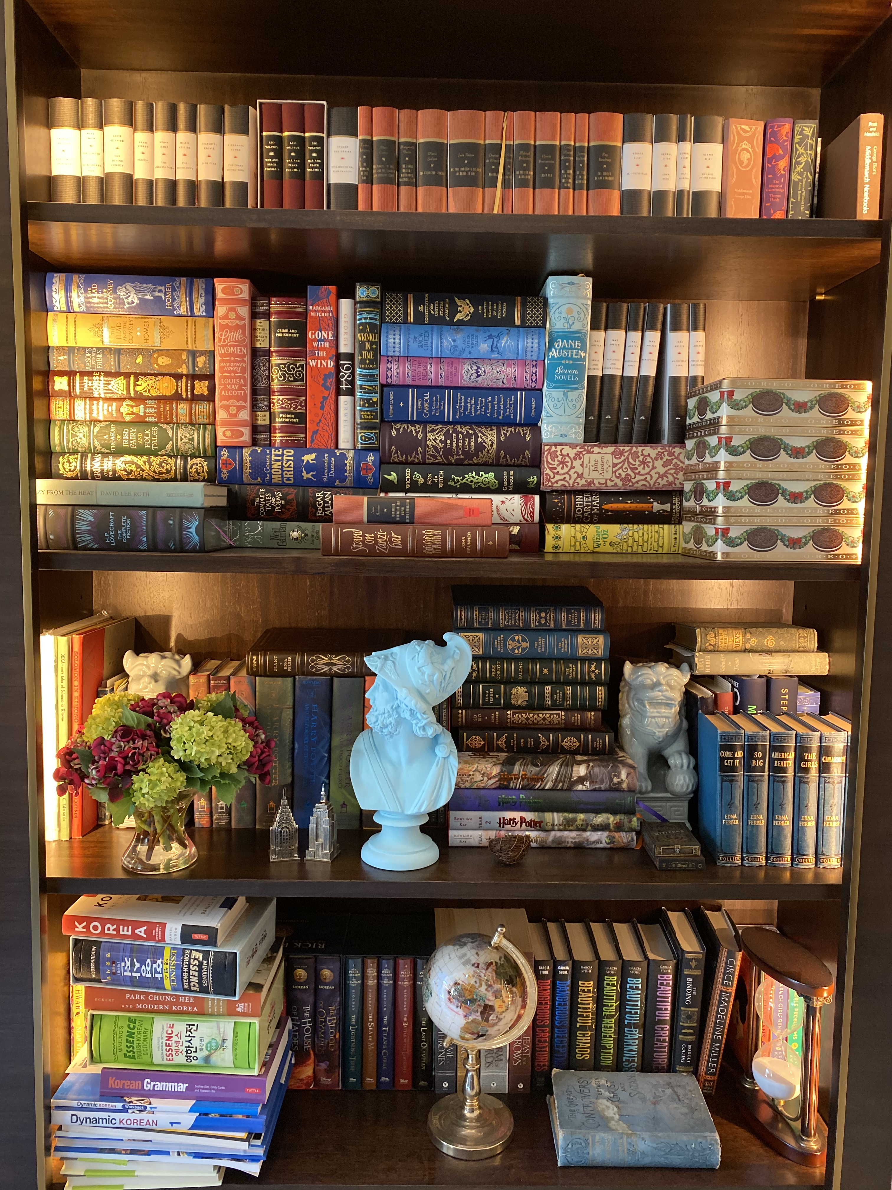 Working on Home Bookcases and Fiction Library